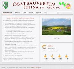 Screenshot unserer Internetseite Version 1